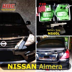 Bateri Kereta Nissan Almera NS60L
