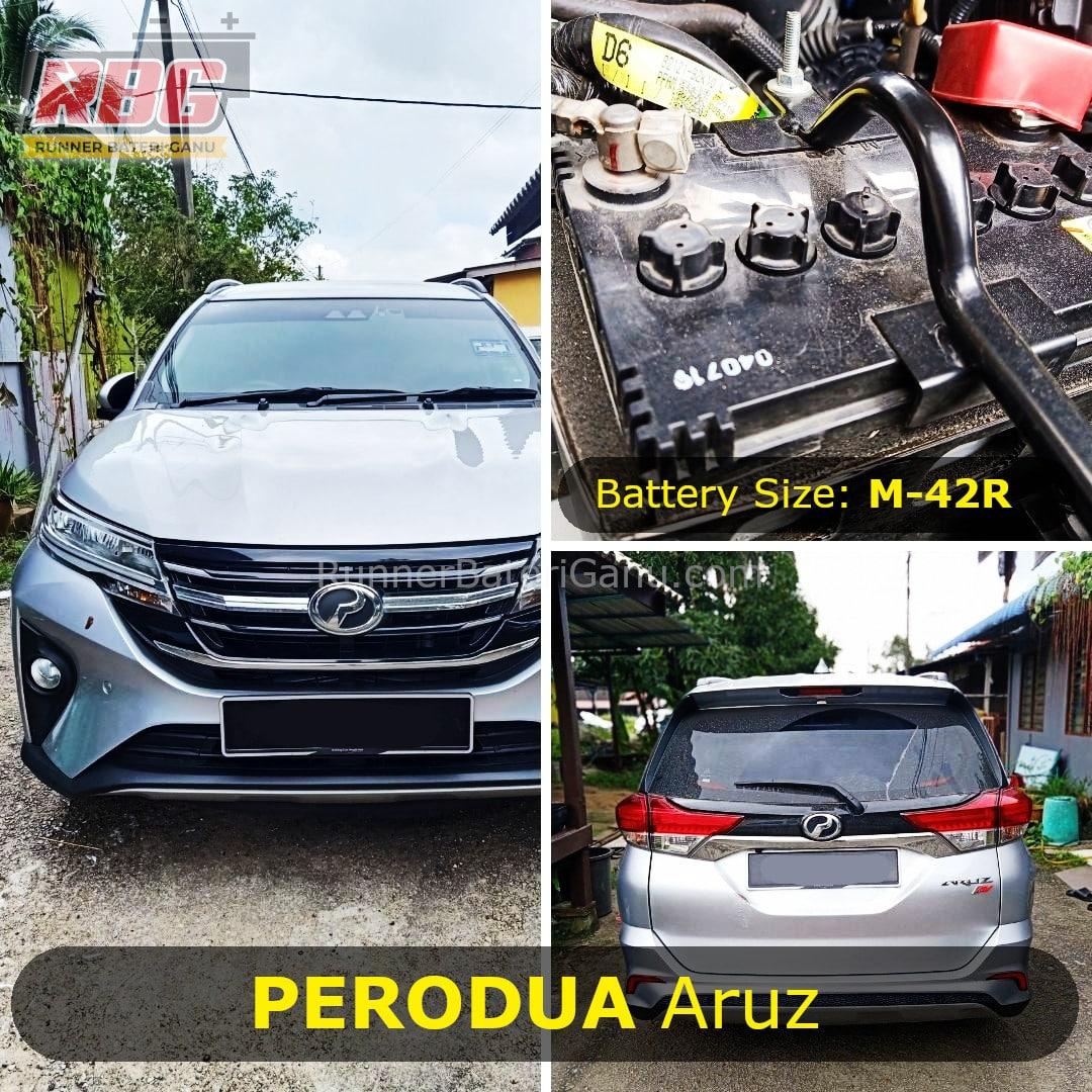 Perodua Aruz Saiz Bateri