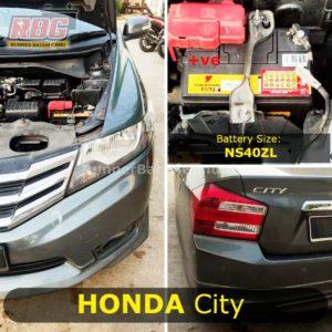 Saiz Bateri Kereta Honda City