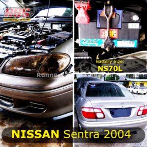 Saiz Bateri Nissan Sentra 2004