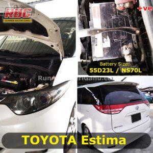 Saiz Bateri Toyota Estima NS70L 55D23L
