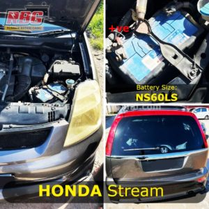 Jenis Bateri Kereta MPV Honda Stream