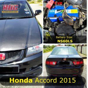 Saiz Bateri Kenderaan Honda Accord 2015