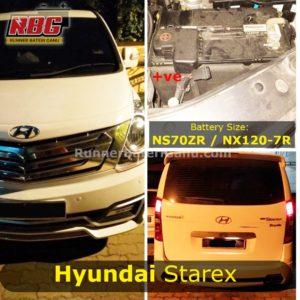 Saiz Bateri Kereta Hyundai Starex NS70Z NX120-7