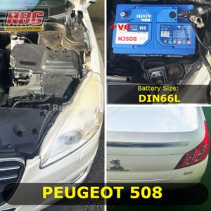 Saiz Bateri Kereta Peugeot 508 DIN66L